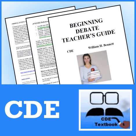 Beginning Debate Teacher's Guide by CDE - SpeechGeek Market