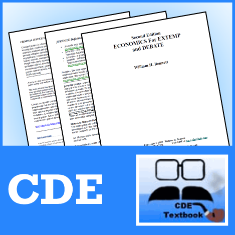 Economics for Debate and Extemp by CDE - SpeechGeek Market