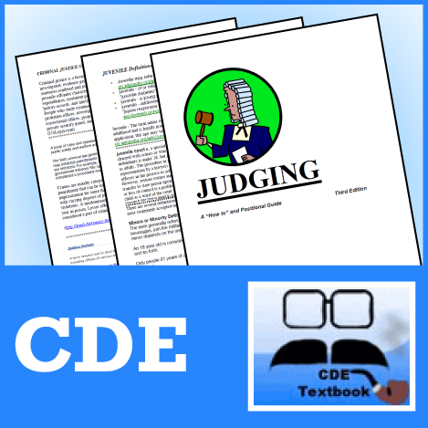 Judging: A How-To Guide and Forms by CDE - SpeechGeek Market