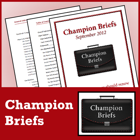 Champion Briefs Policy