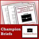 Champion Briefs 2017-18 PF Debate Subscription - SpeechGeek Market