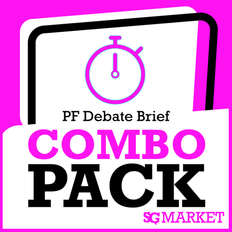 November 2013 PF Debate Briefs Package - SpeechGeek Market