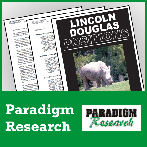 Paradigm Research LD Positions [6 Books] - SpeechGeek Market