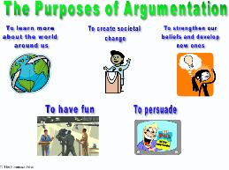 Purpose of Argumentation Poster - SpeechGeek Market