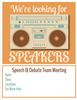 Vintage Speech & Debate Team Flyers - SpeechGeek Market