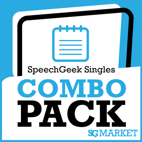 SpeechGeek Singles Combo Pack
