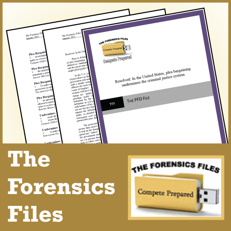 The Forensics Files: NSDA PF Debate File April 2018