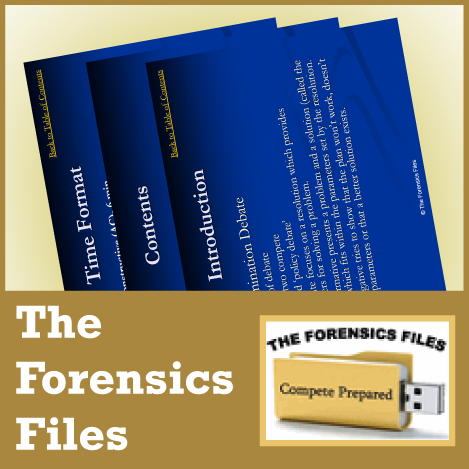 Advanced Policy/CX Powerpoint Lecture from The Forensics Files - SpeechGeek Market