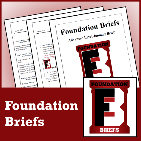 Foundation Briefs Sept/Oct 2015 Advanced LD Brief - SpeechGeek Market
