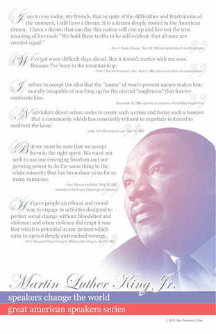 Martin Luther King Jr. Poster - SpeechGeek Market