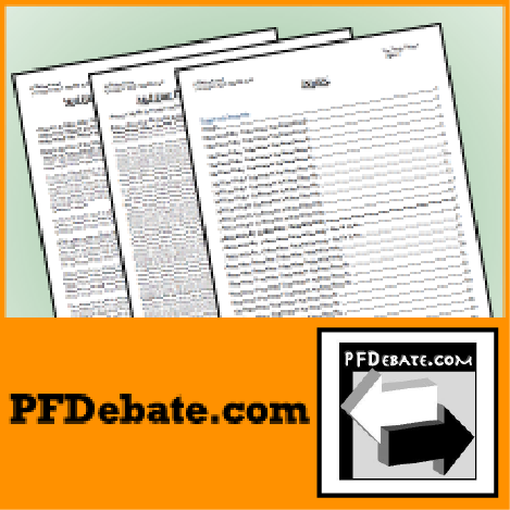 PFDebate The First Constructive January 2015
