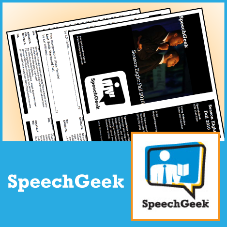 SpeechGeek Season Six: Fall 2008 - SpeechGeek Market