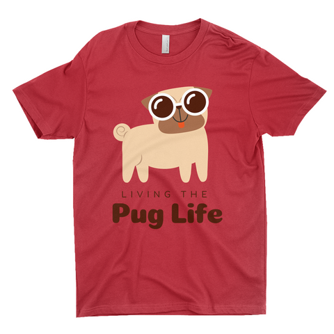 "Clubs ""LIVING THE PUG LIFE"" Unisex T-Shirt"