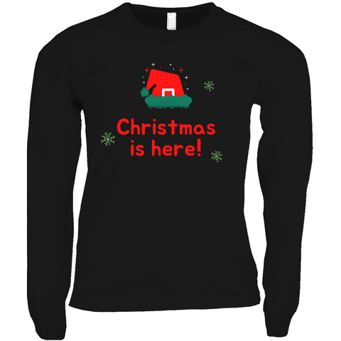 Clubs by UrbanGoat CHRISTMAS IS HERE RED Long Sleeve Shirt