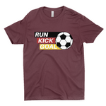 "Clubs ""RUN KICK GOAL"" Unisex T-Shirt"