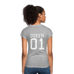 Clubs by UrbanGoat #1 Queen V-Neck T-Shirt - heather gray