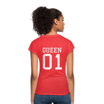 Clubs by UrbanGoat #1 Queen V-Neck T-Shirt - heather red