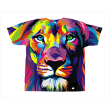 Clubs All-Over Print Colorful Lion T-Shirt