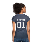 Clubs by UrbanGoat #1 Queen V-Neck T-Shirt - navy heather