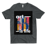 "Clubs ""ART IS LIFE"" Unisex T-Shirt"