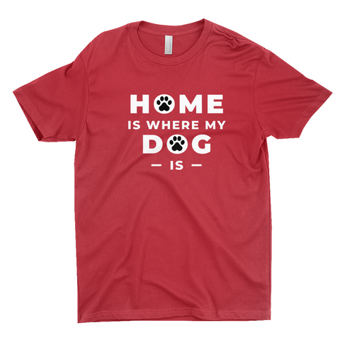 "Clubs ""HOME IS WHERE MY DOG IS"" Unisex T-Shirt"