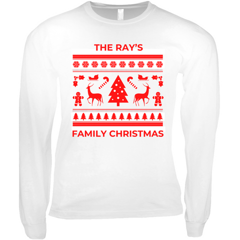 Clubs by UrbanGoat THE RAY'S FAMILY CHRISTMAS Long Sleeve Shirt