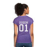 Clubs by UrbanGoat #1 Queen V-Neck T-Shirt - purple heather