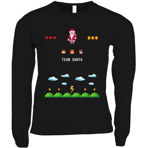 Clubs by UrbanGoat TEAM SANTA Pixelated Long Sleeve Shirts