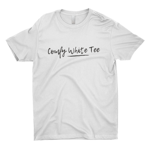 "Clubs ""COMFY WHITE TEE"" Unisex T-Shirt"