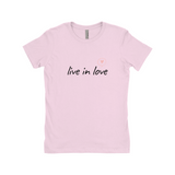 "Clubs ""LIVE IN LOVE"" Women T-Shirt"