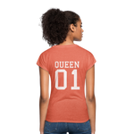 Clubs by UrbanGoat #1 Queen V-Neck T-Shirt - heather bronze
