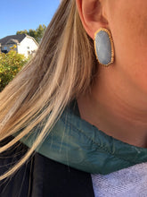 Load image into Gallery viewer, Stone Earrings with Gold Accents