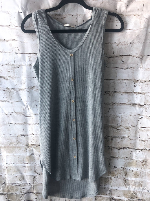 Sleeveless Jersey Tunic Dress with Hood