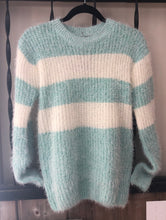 Load image into Gallery viewer, Mint Striped Sweater