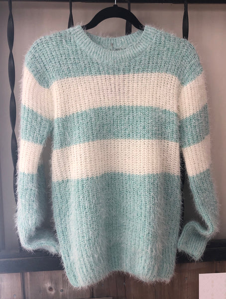 Mint Striped Sweater