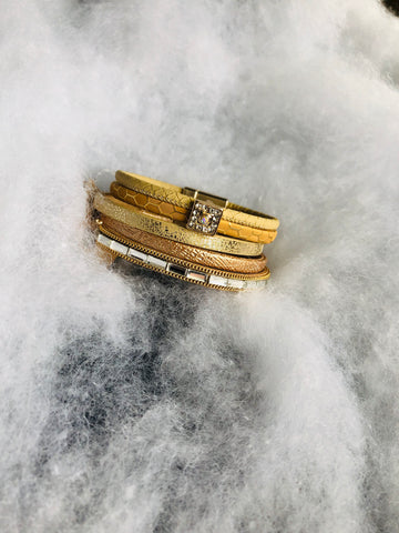 Multi Band Gold Bracelet
