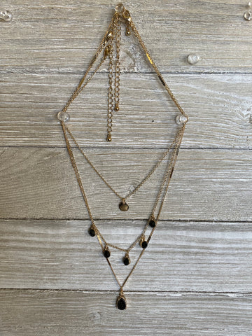 Black Drop Necklace