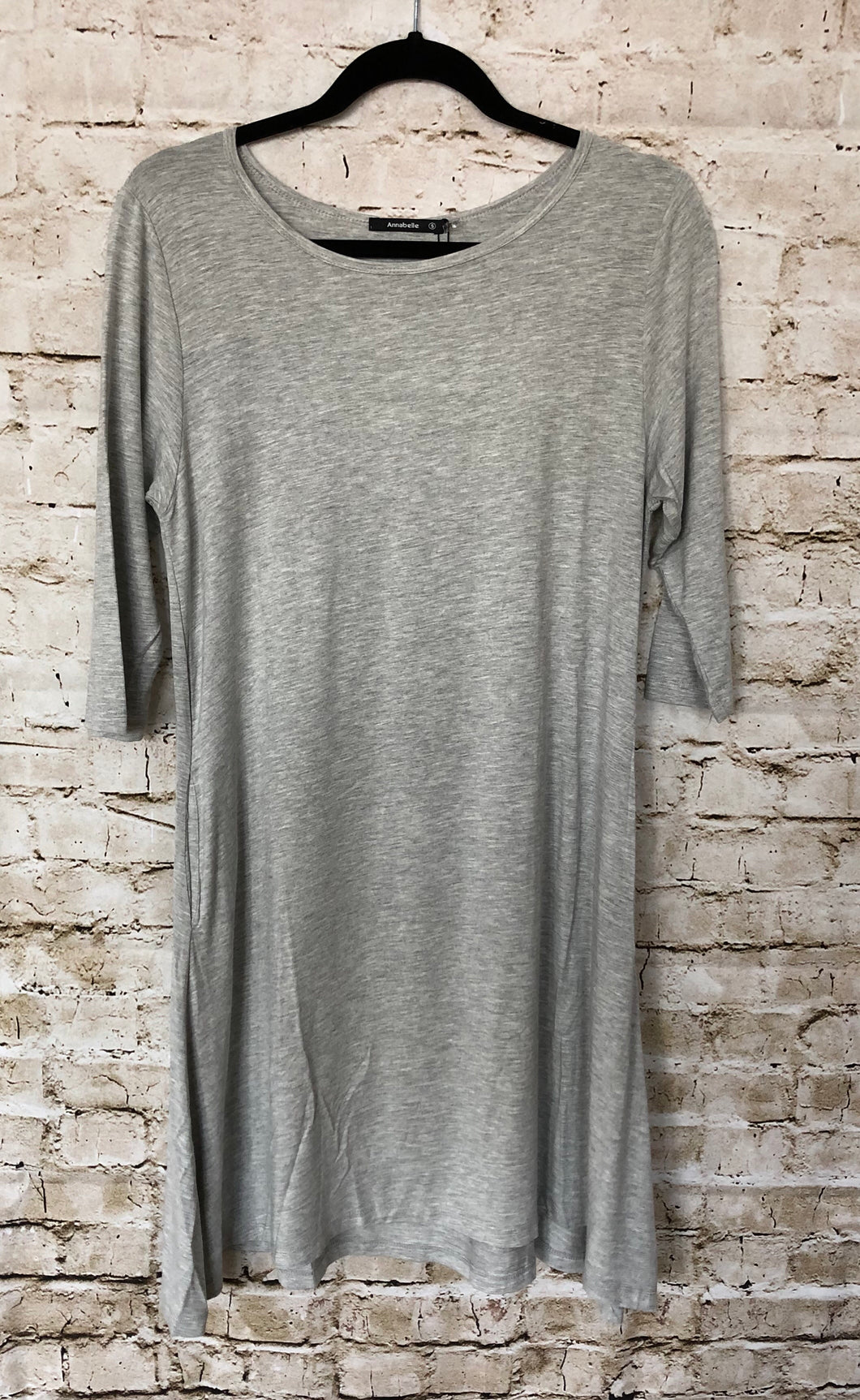 Gray Short Sleeve Dress
