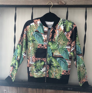 """Not Your Average"" Jacket in Green Jungle"
