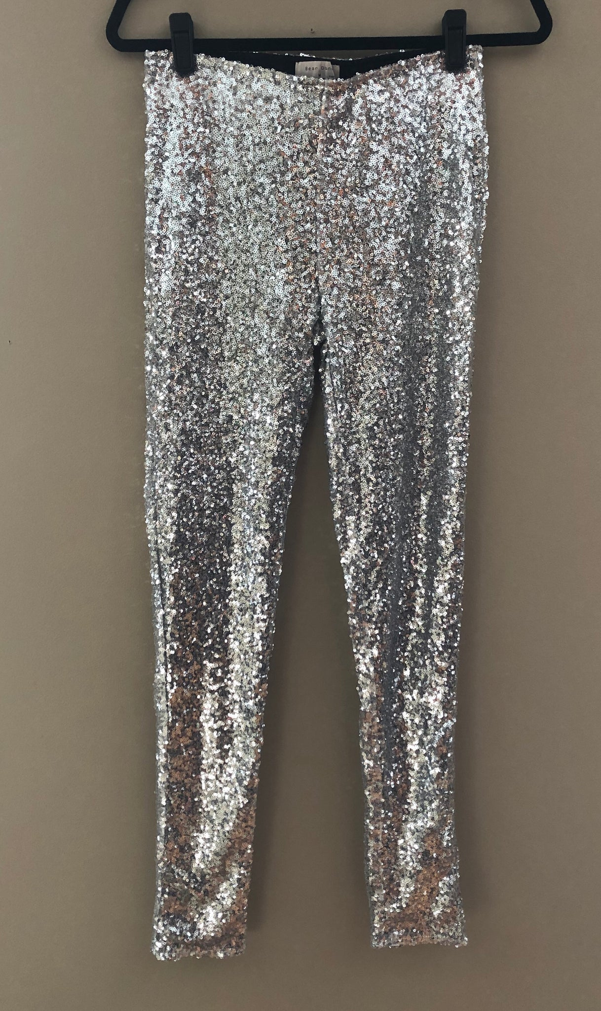 Sequin Sparkle Legging (Silver)