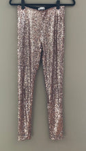 Load image into Gallery viewer, Sequin Sparkle Legging (Champagne)