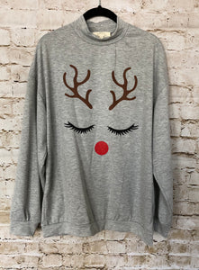 Pretty Reindeer Sweatshirt