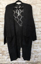 Load image into Gallery viewer, Black Duster Cardigan