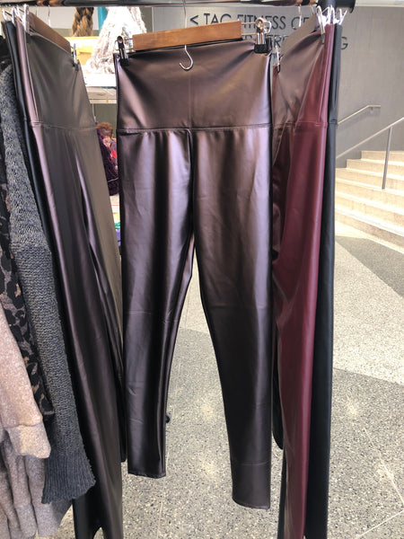 Faux Leather Leggings (Copper)