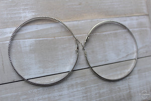 Textured Hoop Earring