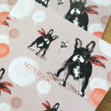 A5 NOTEBOOKS: SET OF TWO – Dalmatian & French Bulldog