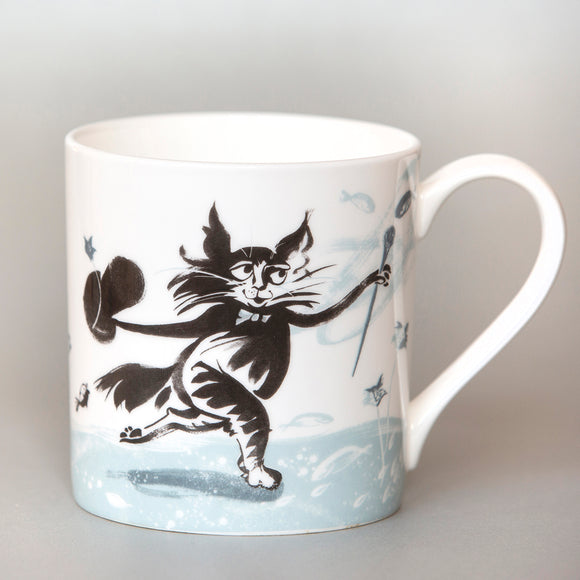 FINE BONE CHINA MUG – 'TOP HAT CAT' ('Fishy Tales' collection)