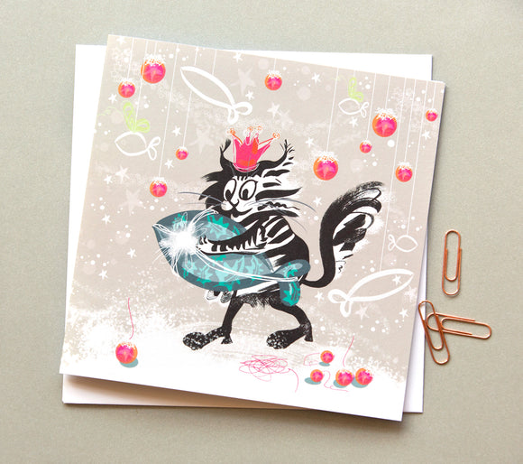 CHRISTMAS CARDS | Cat Fish (Single card)