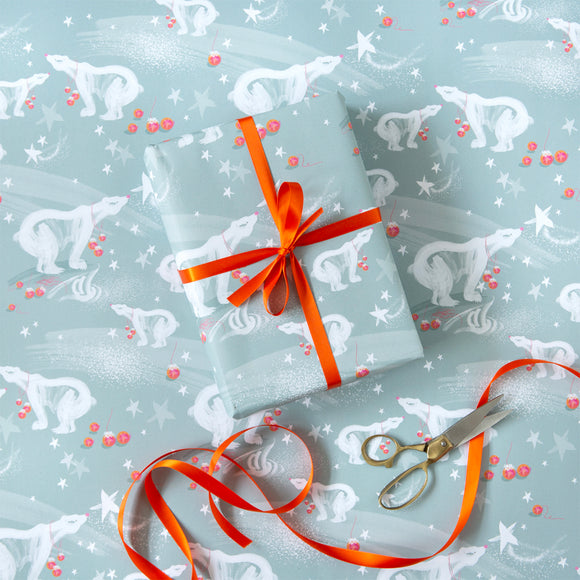 Christmas Gift Wrap – 6 Sheets – Reindeer & Polar Bear