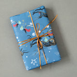CHRISTMAS GIFT WRAP | 6 Sheets | Flying Reindeer | Winter Wonder Collection